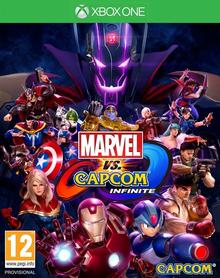 Box art for the game Marvel vs. Capcom Infinite