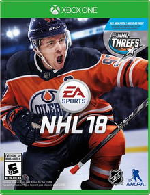 Box art for the game NHL 18