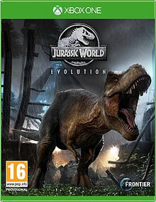Box art for the game Jurassic World Evolution