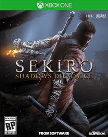 Box art for the game Sekiro:  Shadows Die Twice