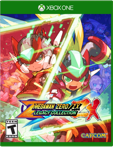 Box art for the game Megaman Zero / ZX Legacy Collection