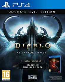Box art for the game Diablo III: Reaper of Souls - Ultimate Evil Edition