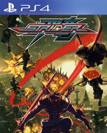 Box art for the game Strider