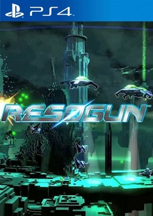 Box art for the game Resogun