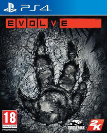 Box art for the game Evolve