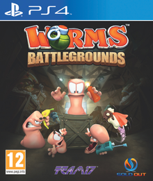 Box art for the game Worms Battlegrounds