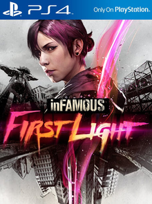 Box art for the game inFAMOUS First Light