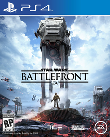 Box art for the game Star Wars:  Battlefront