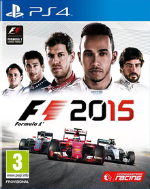 Box art for the game F1 2015