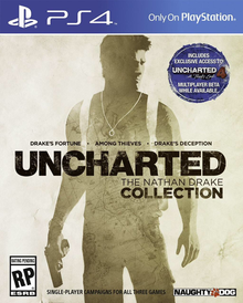 Box art for the game Uncharted: The Nathan Drake Collection