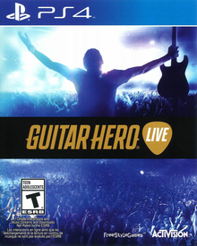 Box art for the game Guitar Hero Live