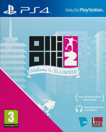Box art for the game OlliOlli 2: Welcome to Olliwood