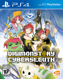 Box art for the game  Digimon Story: Cyber Sleuth