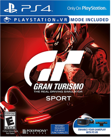 Box art for the game Gran Turismo Sport