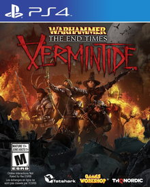 Box art for the game Warhammer: End Times - Vermintide
