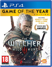 Box art for the game The Witcher 3 Wild Hunt - Game of the year edition