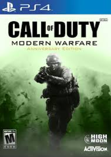 Box art for the game Call of Duty 4: Modern Warfare Remastered
