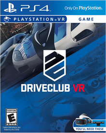 Box art for the game DriveClub VR