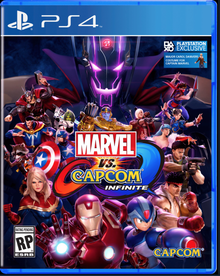 Box art for the game Marvel vs. Capcom Infinite