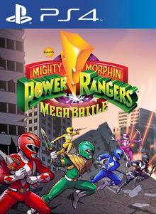 Box art for the game Mighty Morphin Power Rangers : Mega Battle