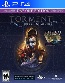 Box art for the game Torment: Tides of Numenera