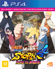 Box art for the game Naruto Shippuden: Ultimate Ninja Storm 4 Road To Boruto