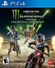 Box art for the game Monster Energy Supercross: The Official Videogame