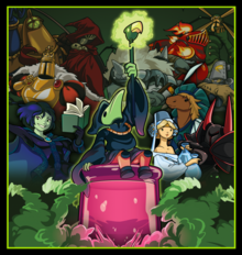 Capa do jogo Shovel Knight: Plague of Shadows