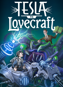 Box art for the game Tesla vs Lovecraft