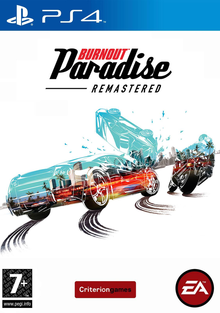 Box art for the game Burnout Paradise Remastered