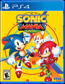 Box art for the game Sonic Mania Plus