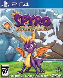 Box art for the game Spyro Reignited Trilogy
