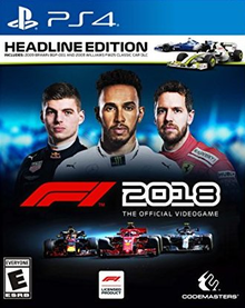 Box art for the game F1 2018: The Official Videogame