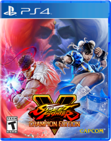 Box art for the game Street Fighter V Champion Edition