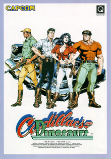 Box art for the game Cadillacs and Dinosaurs