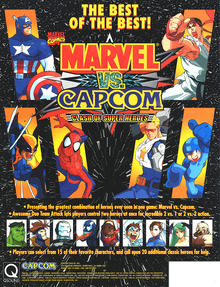 Capa do jogo Marvel vs. Capcom: Clash of Super Heroes