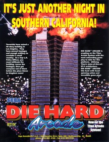 Box art for the game Die Hard Arcade