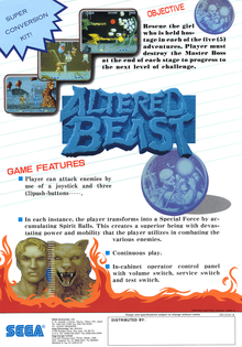 Box art for the game Altered Beast