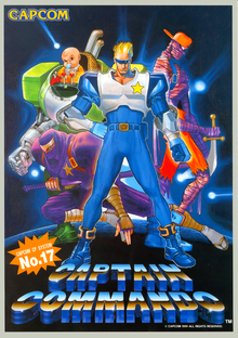 Box art for the game Captain Commando