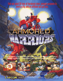 Box art for the game Armored Warriors
