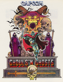 Box art for the game Ghouls 'N Ghosts