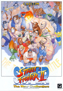 Box art for the game Super Street Fighter II The New Challengers