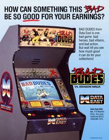Box art for the game Bad Dudes VS. Dragon Ninja