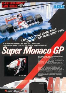 Box art for the game Super Monaco GP