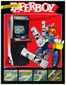 Box art for the game Paperboy