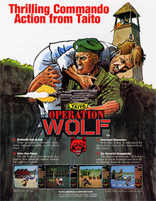 Box art for the game Operation Wolf