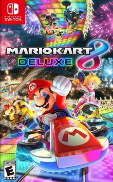 Box art for the game Mario Kart 8 Deluxe