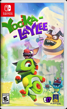 Box art for the game Yooka-Laylee