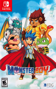 Box art for the game Monster Boy and The Cursed Kingdom