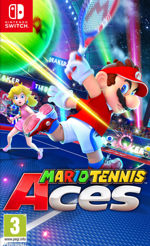 Box art for the game Mario Tennis Aces